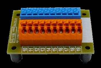 vt0210 or bl verteiler klemmleiste mit wago klemmen 2 x 10polig in orange blau reinhold. Black Bedroom Furniture Sets. Home Design Ideas